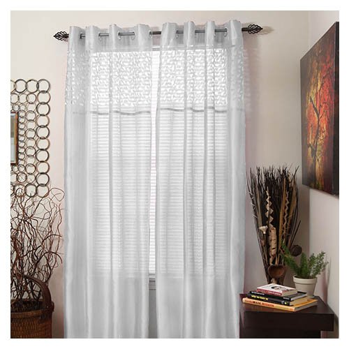 Set of 2 Sheer Monica Grommet Curtain Panels Choice of Colors 95 ...