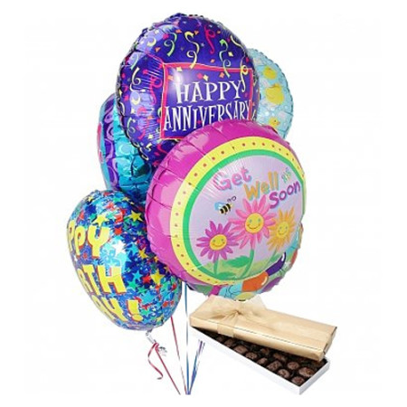 Balloons & Chocolate-6 Mylar