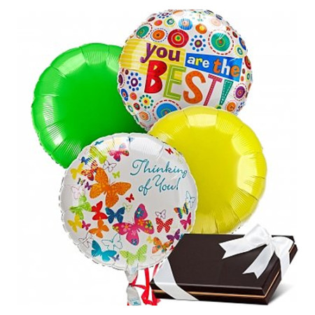 Balloons & Chocolates-4 Mylar